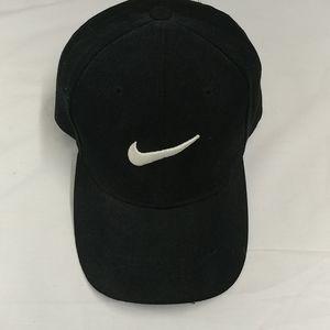 Nike Black baseball cap ,w/ White logo adjustable